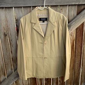 Vintage Wilsons Leather jacket button up large